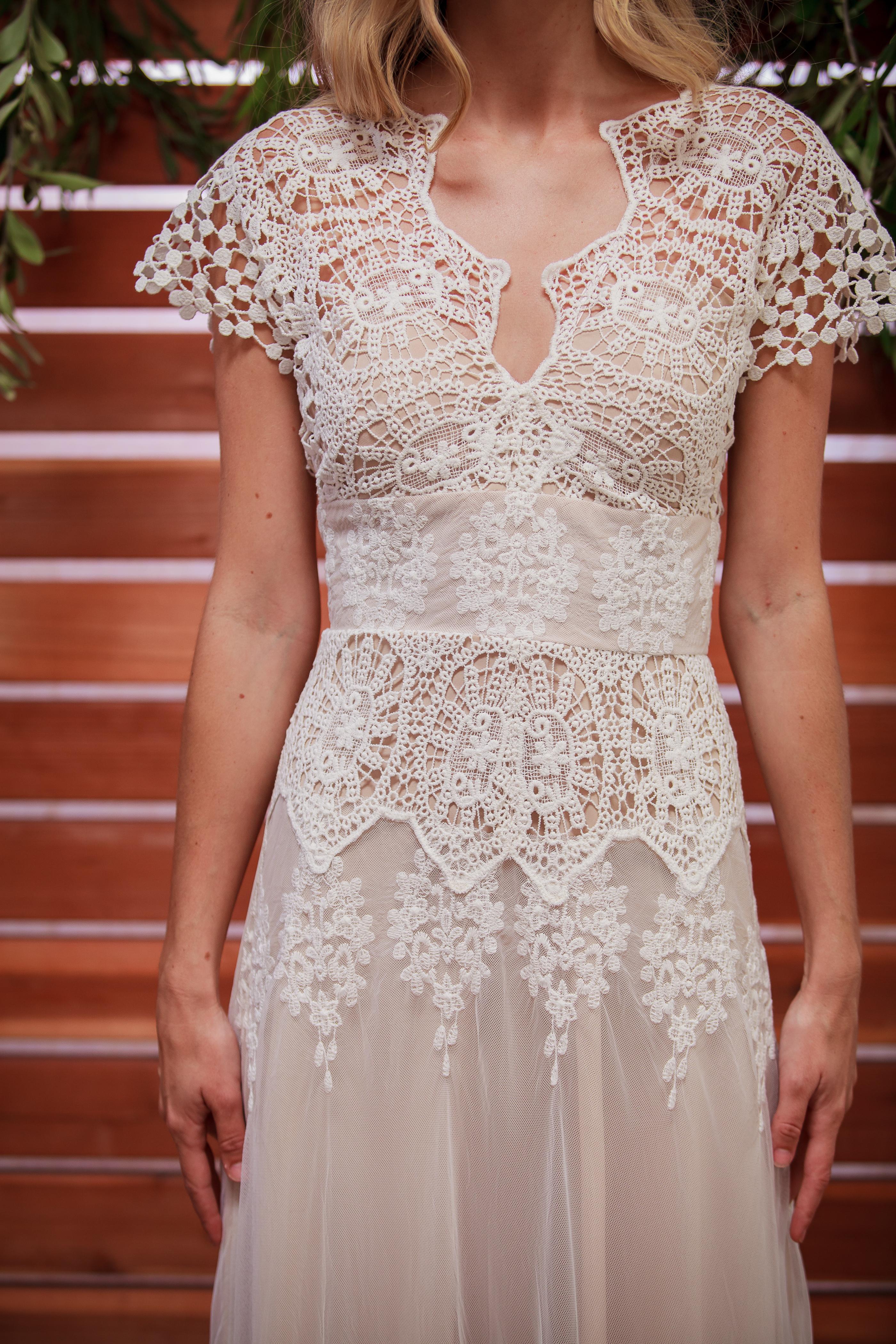 Azalea Boho Cotton Lace Wedding Dress | Dreamers and Lovers