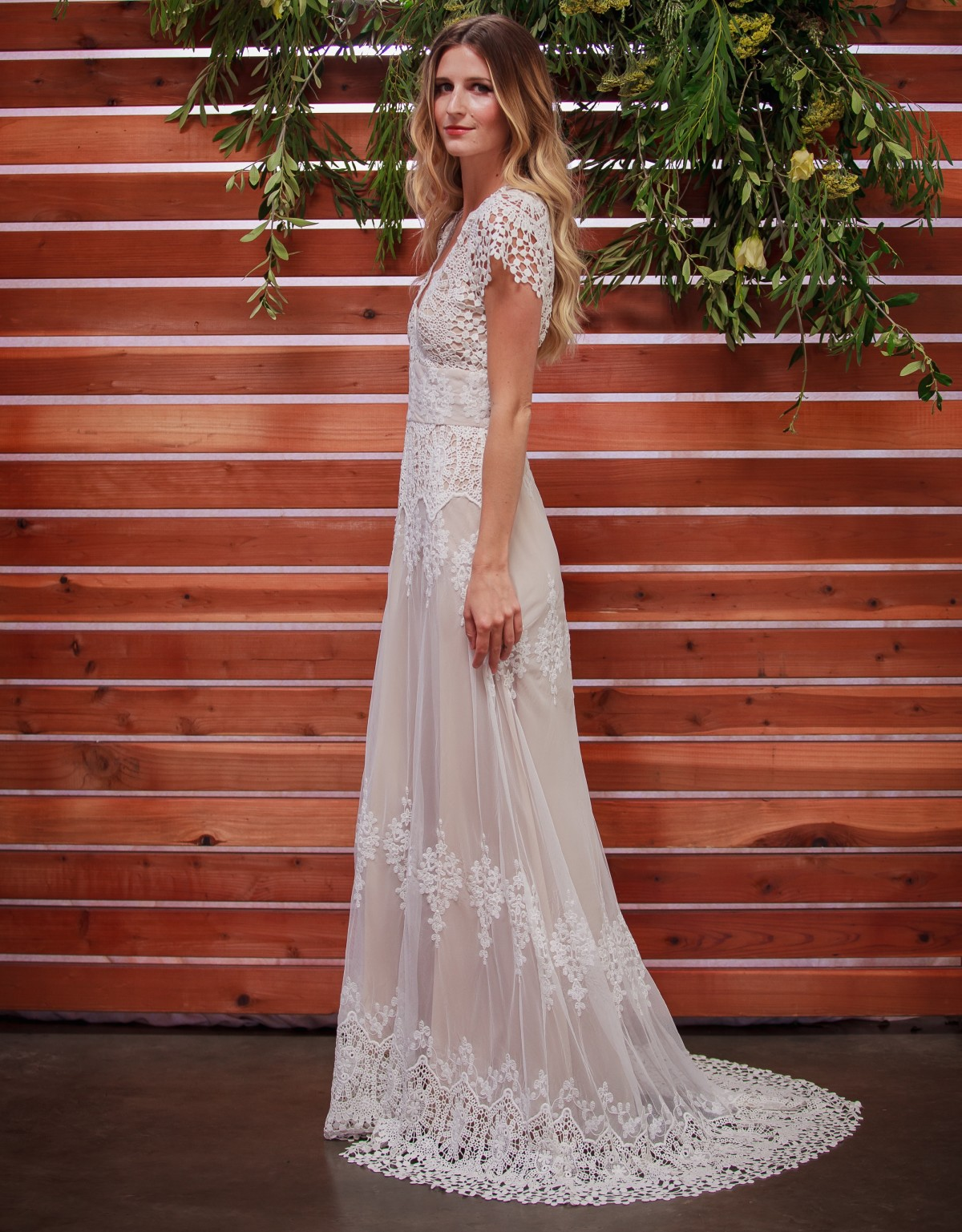 Azalea Boho Cotton Lace Wedding Dress | Dreamers and Lovers