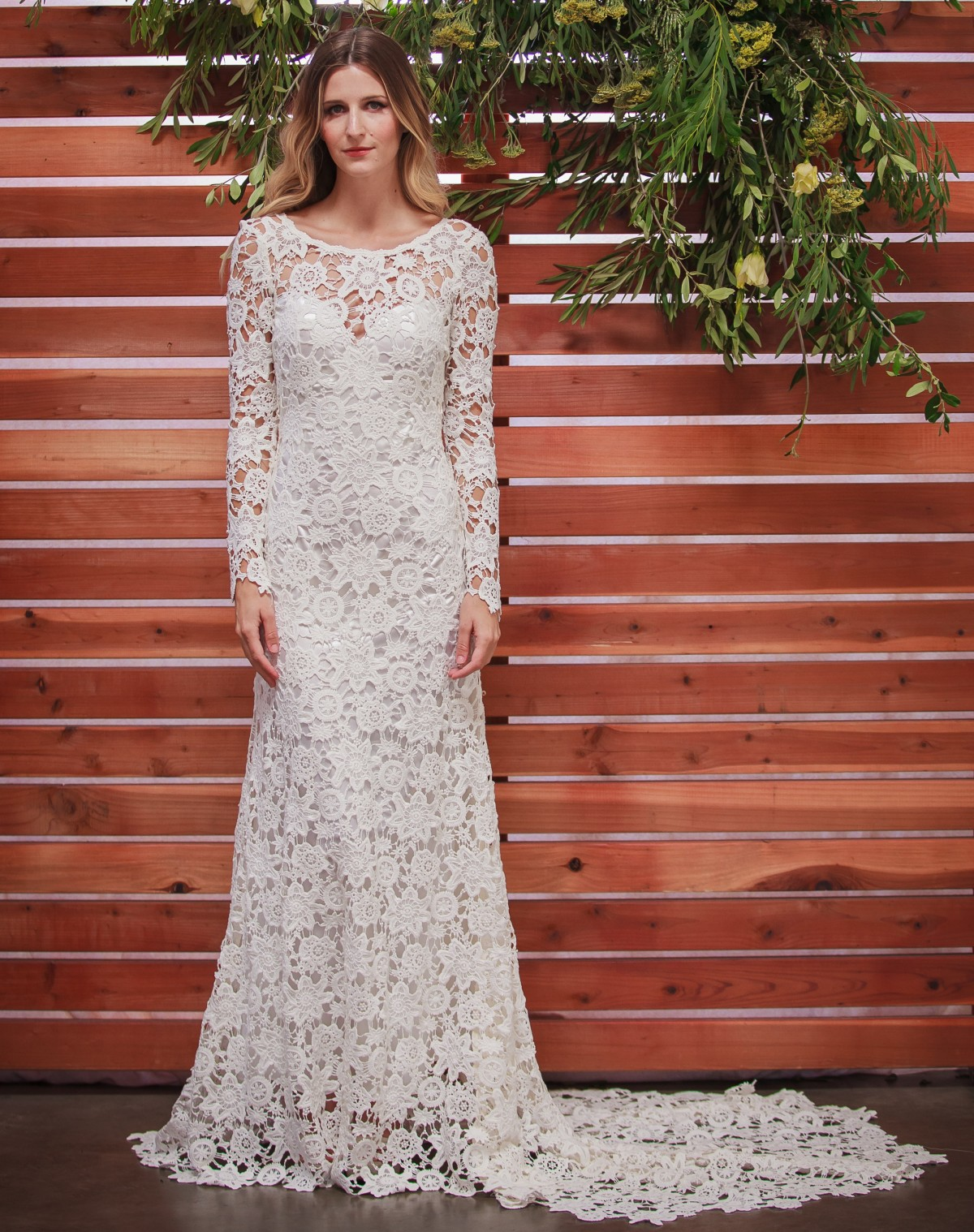 Clover Crochet Lace Boho Wedding Dress Dreamers And Lovers