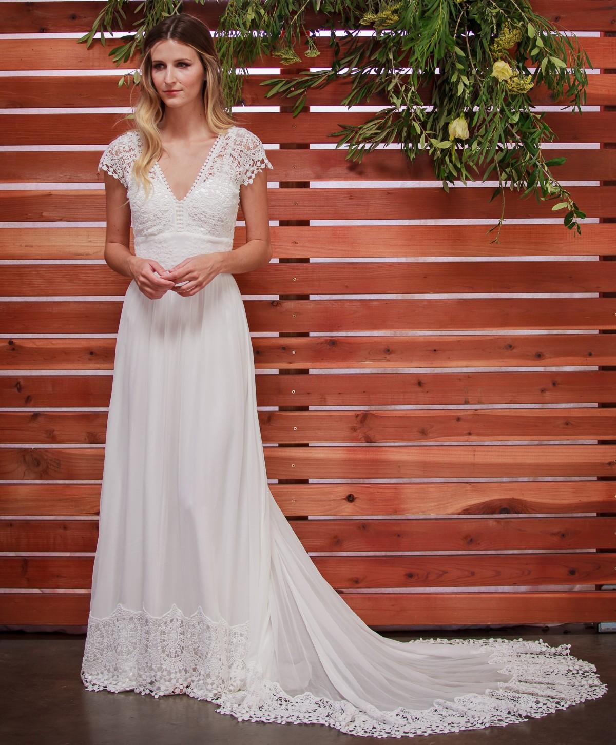 Daisy Silk And Lace Boho Wedding Dress