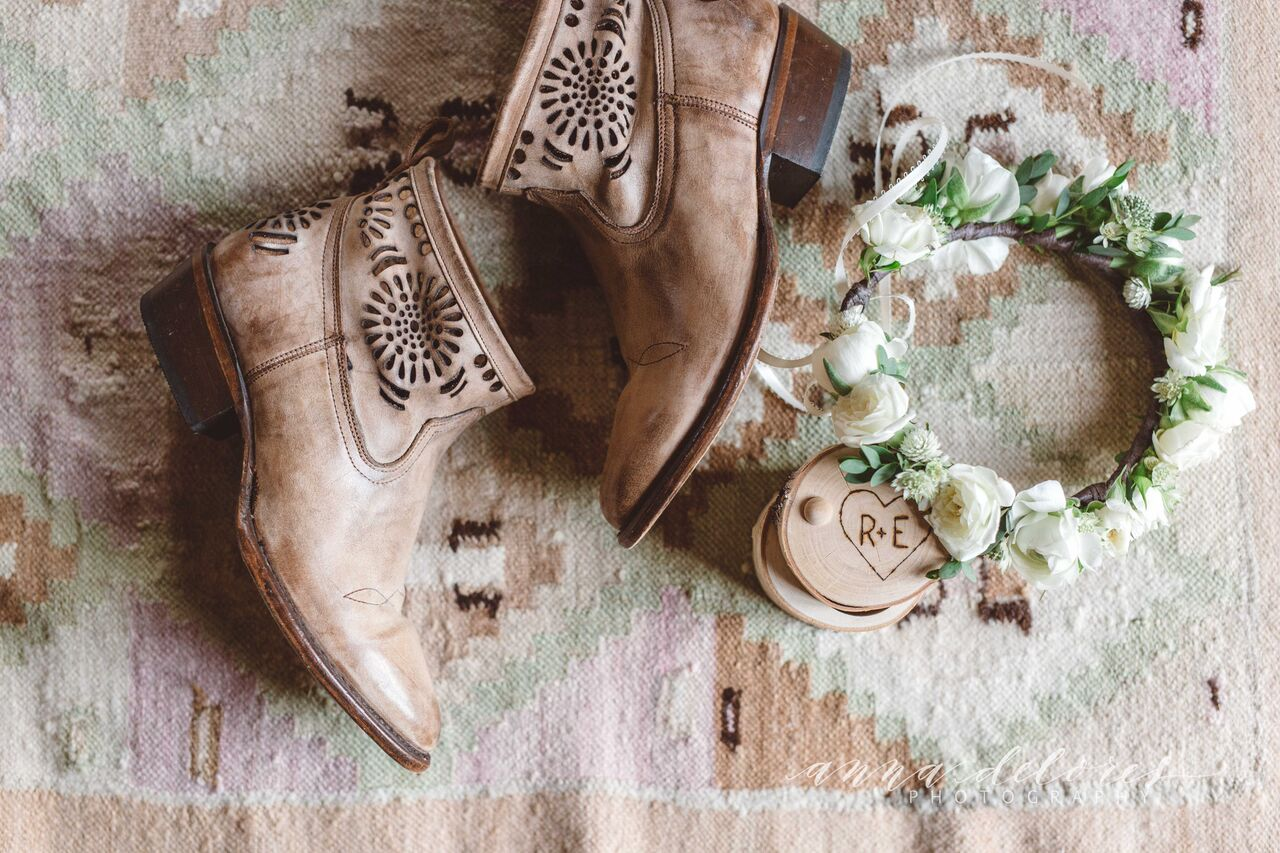 a-bohemian-bride-killer-ankle-booties-to-pair-with-her-simple-lace-wedding-dress