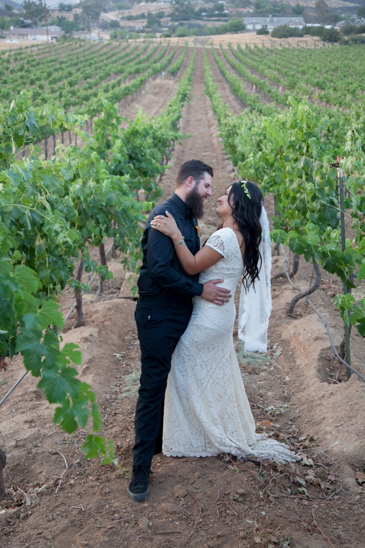 bride-and-groom-at-their-boho-wedding-at-winery