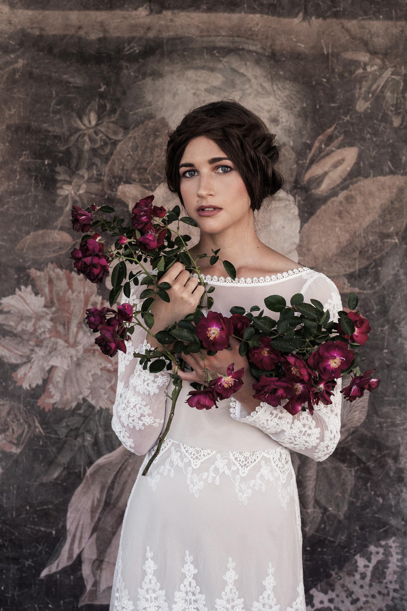 bohemian-wedding-inspiration-featuring-lisa-long-sleeve-lace-wedding-dress