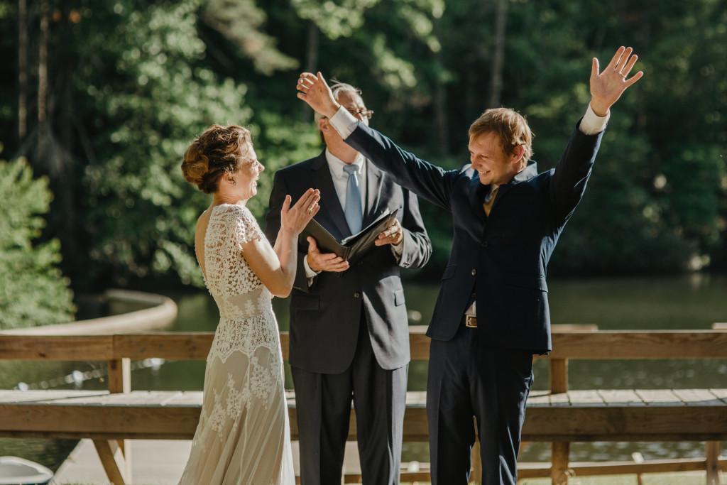 bride-lye-wearing-the-azalea-backless-boho-wedding-dress-at-their-camp-site-wedding