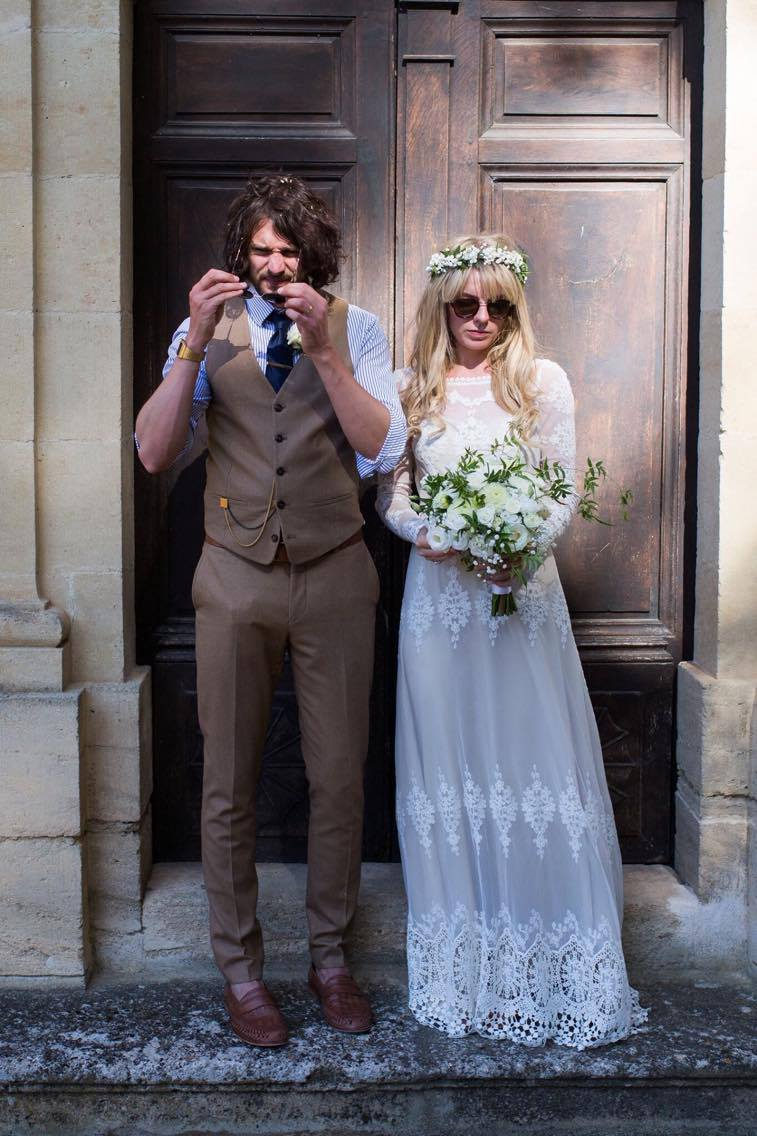 a-laidback-bohemian-bride-and-groom-in-south-of-france-she-wears-the-lisa-backless-boho-wedding-dress