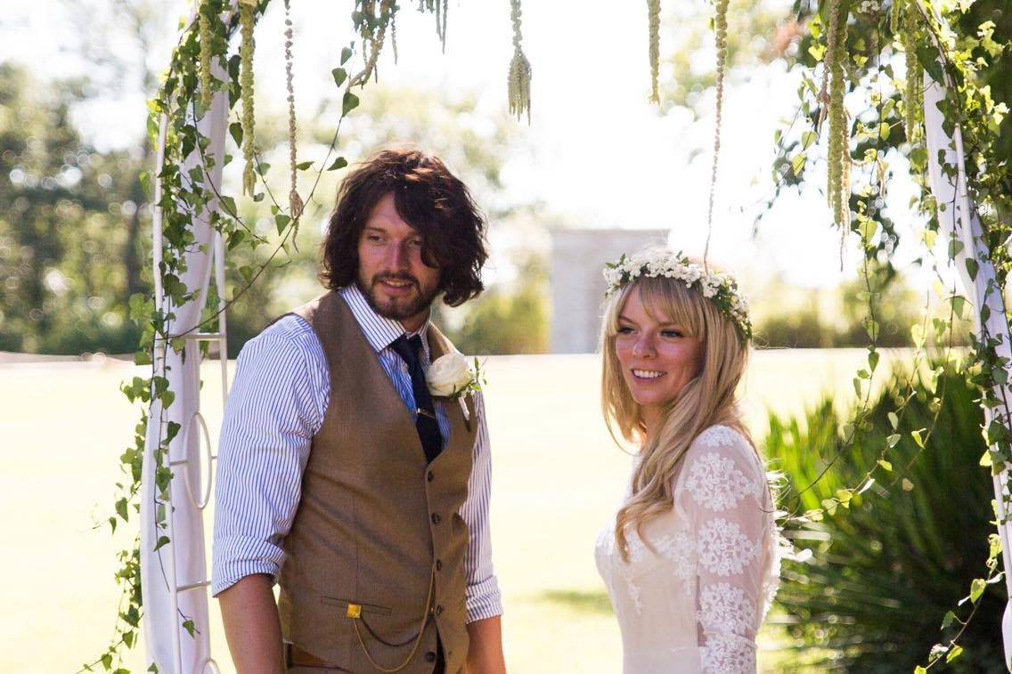 free-spirited-couple-wed-in-the-south-of-france-her-wearing-lisa-long-sleeve-boho-lace-wedding-dress