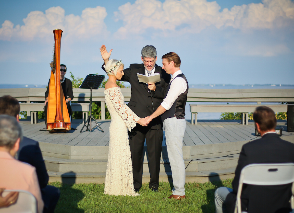 the-couple-say-their-I-dos-at-their-bohemian-diy-wedding-ceremony