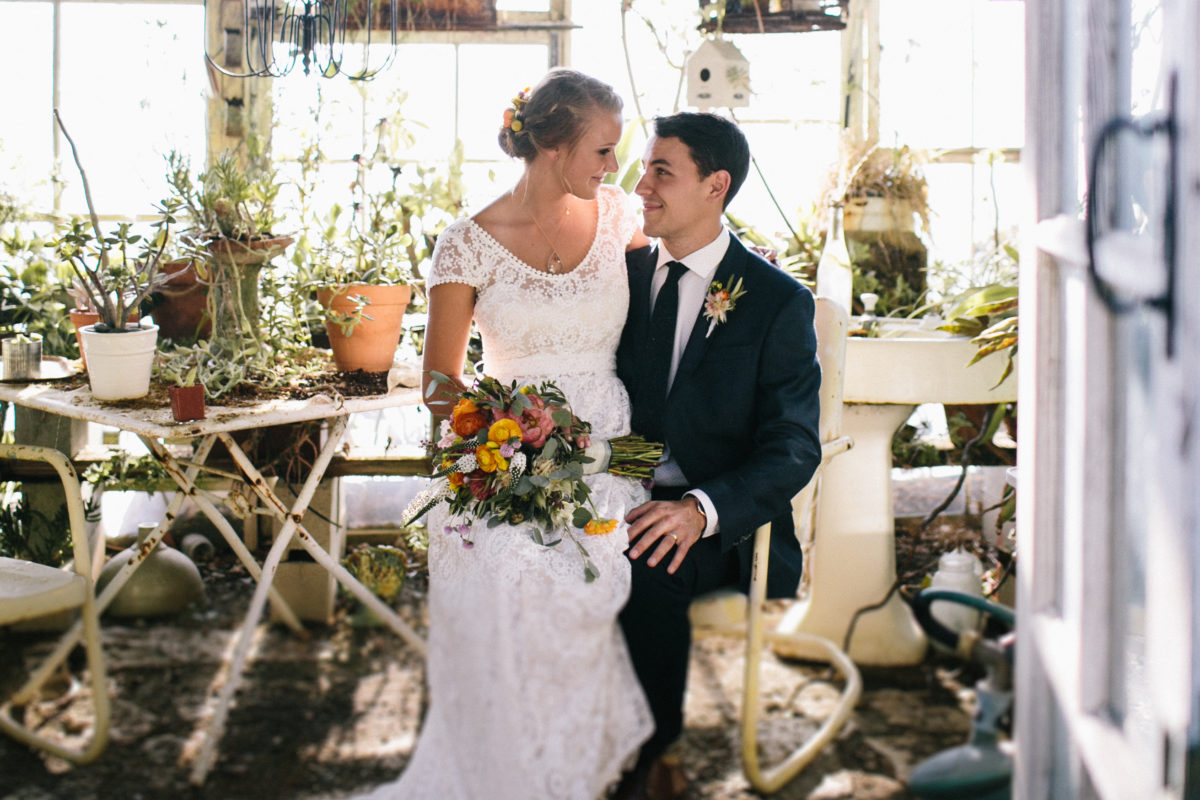bride-molly-in-her-inspiring-bohemian-wedding-filled-with-greenery-and-wearing-the-coco-lace-dress