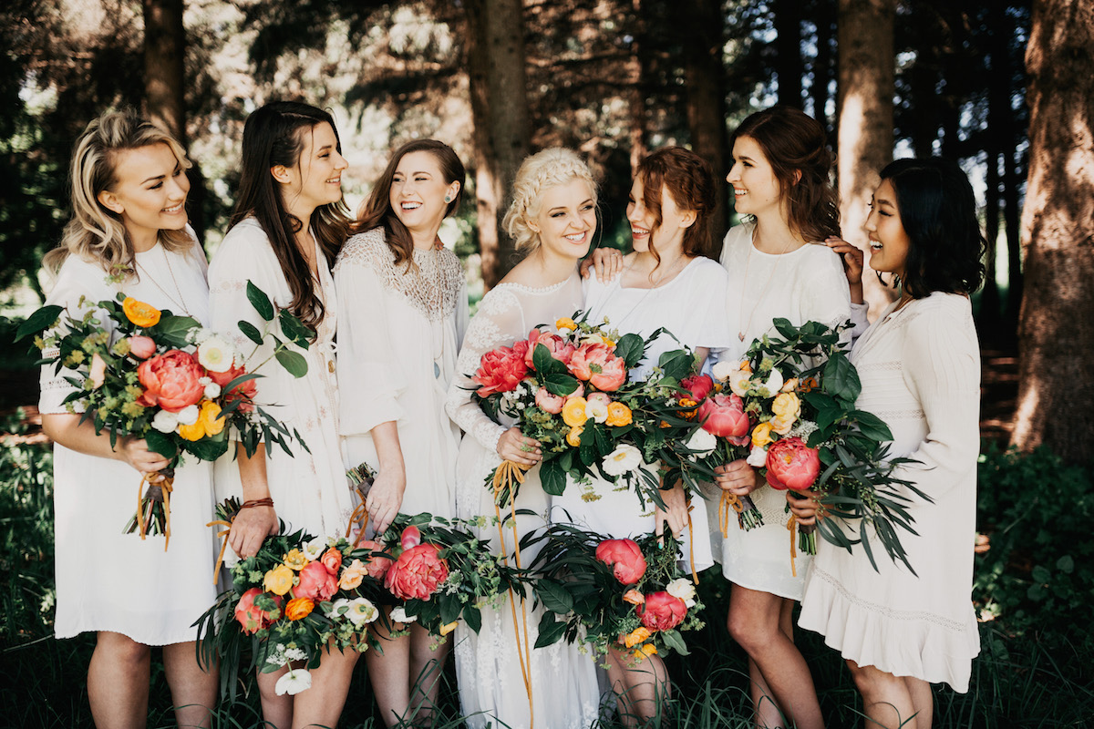 girls-just-want-to-have-fun-bohemian-bridesmaids-in-mismatched-dresses
