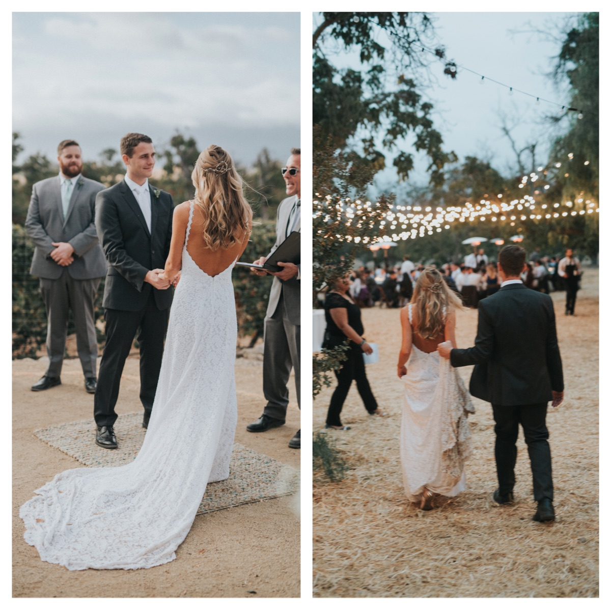 California-laidback-ranch-wedding-bride-wears-backless-lace-wimple-wedding-dress