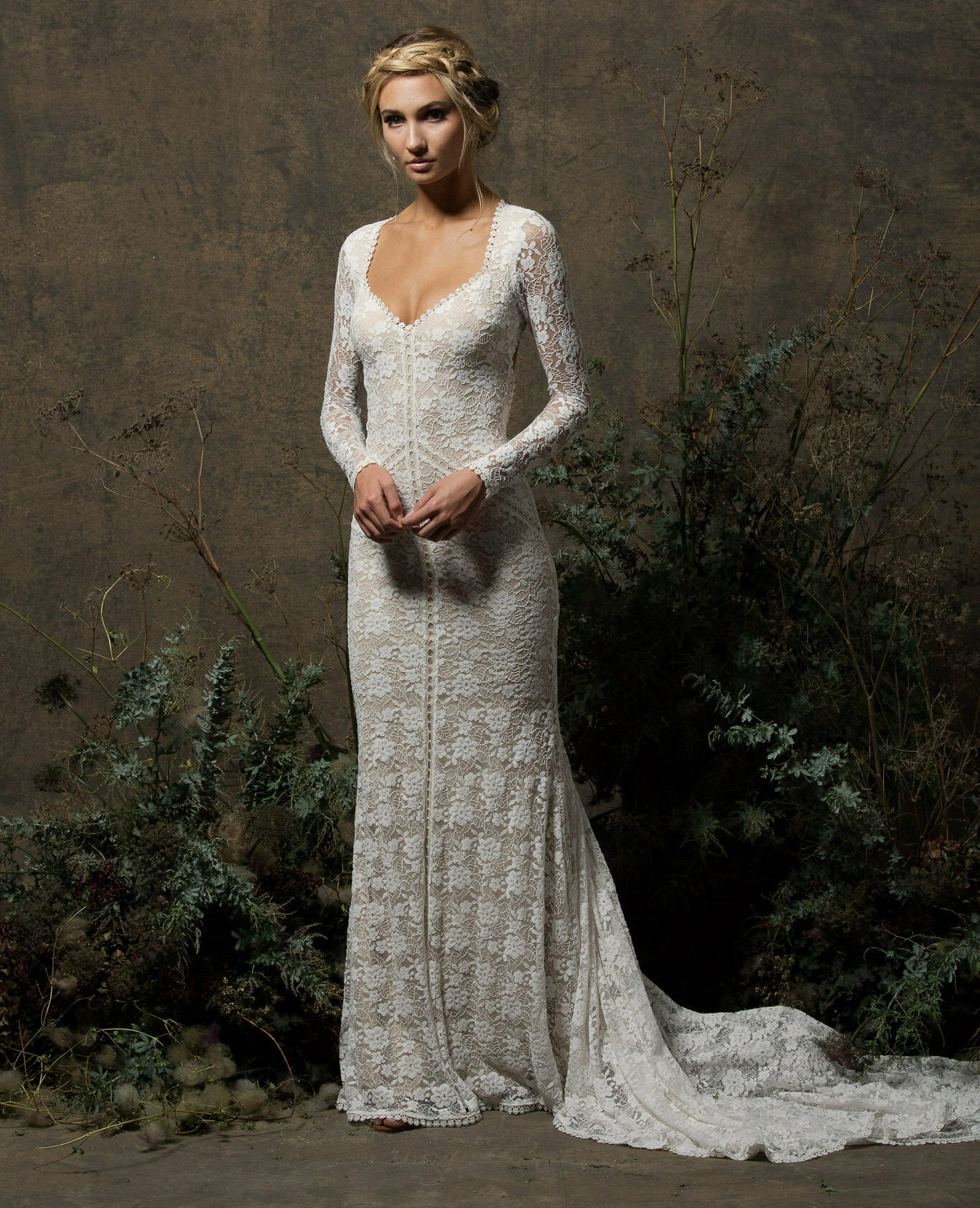 Ress For Boho Wedding And Bride Long Sleeves