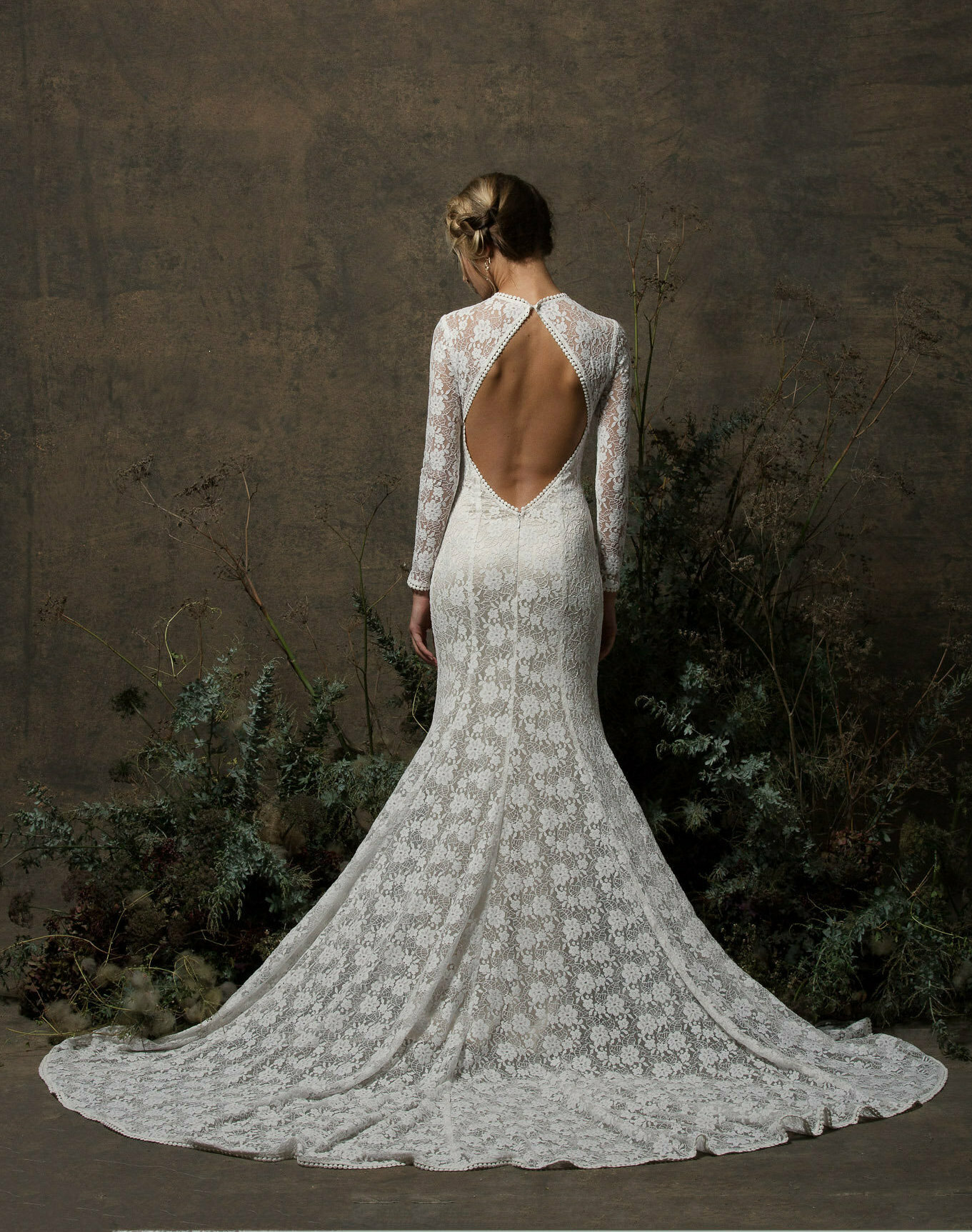 Kriste Lace Wedding Dress with Sleeves | Dreamers and Lovers