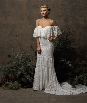 off-white-stretch-lace-offshoulder-bohemian-wedding-dress