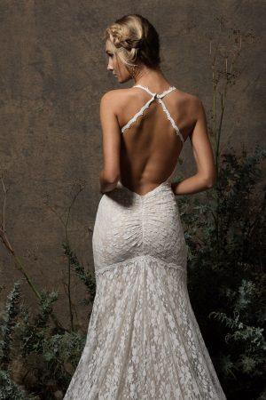 lace-wedding-dress-with-front-slit-open-back-and-ruching