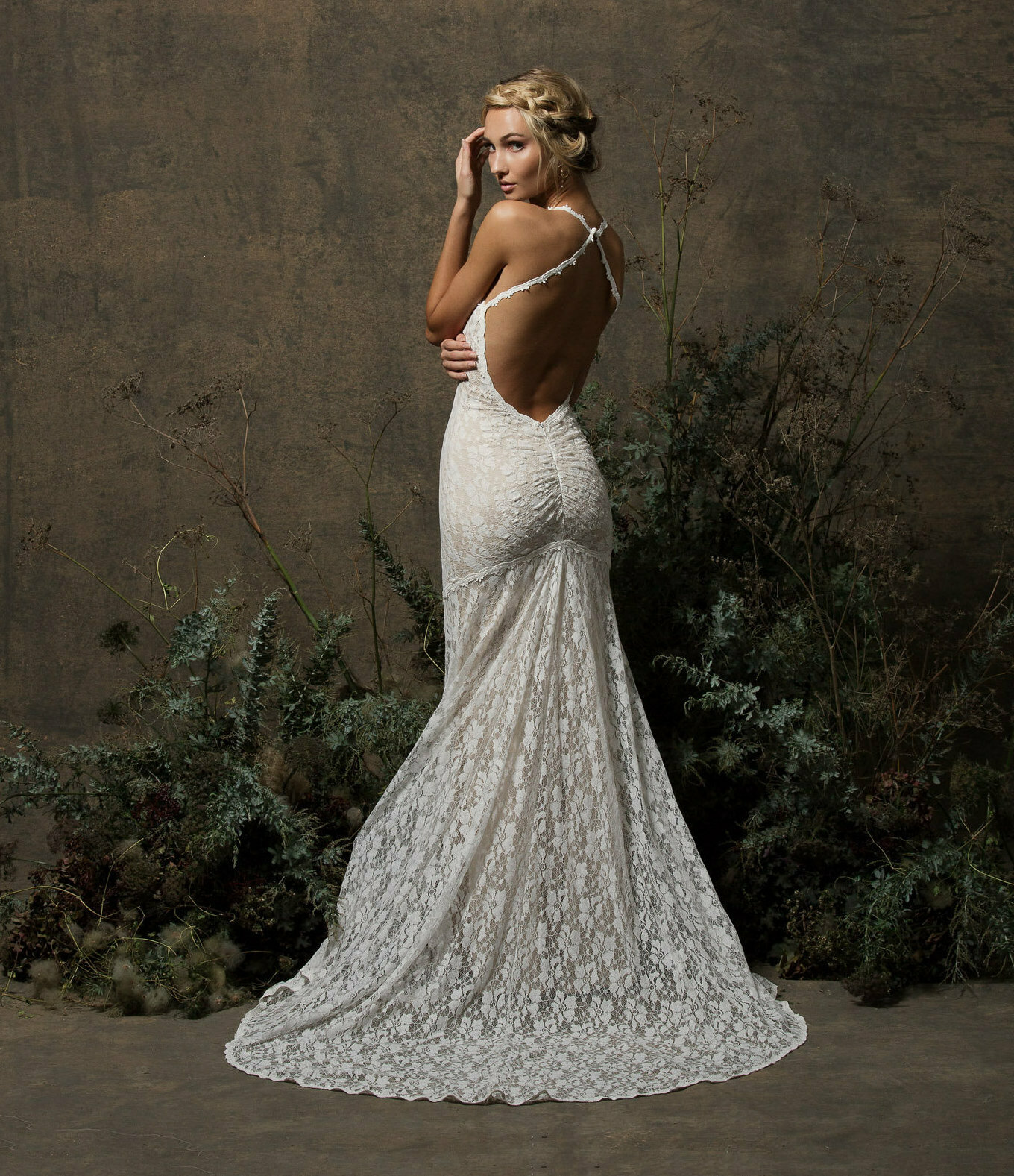 Penelope Backless Lace Wedding Dress | Dreamers and Lovers