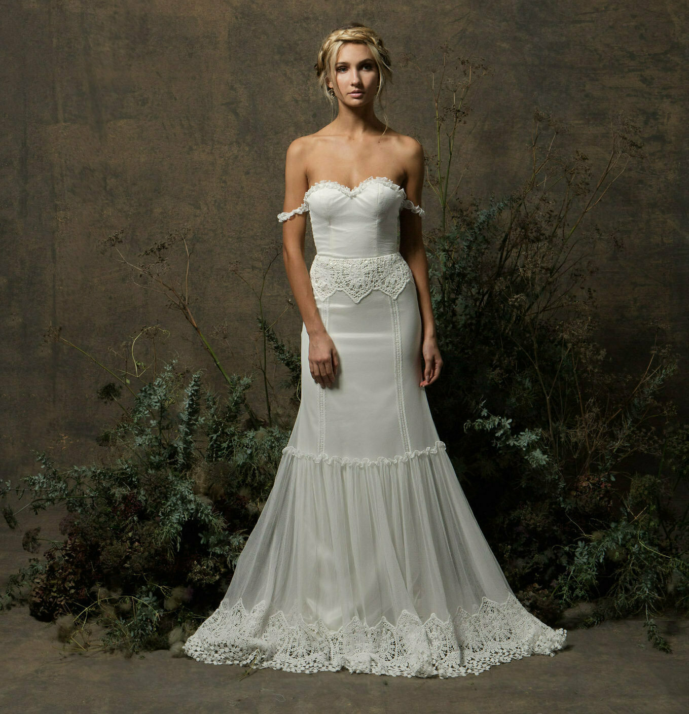 Freya Strapless Tulle Wedding Dress | Dreamers and Lovers