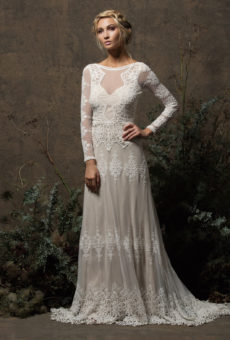 aurora lace gown