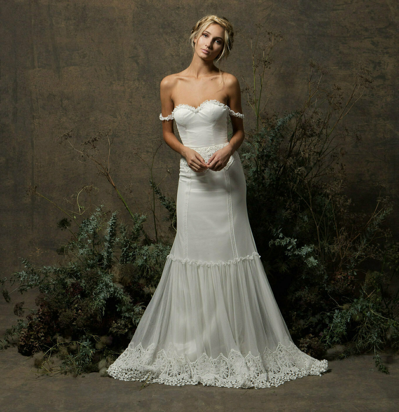 Freya Strapless Tulle Wedding Dress