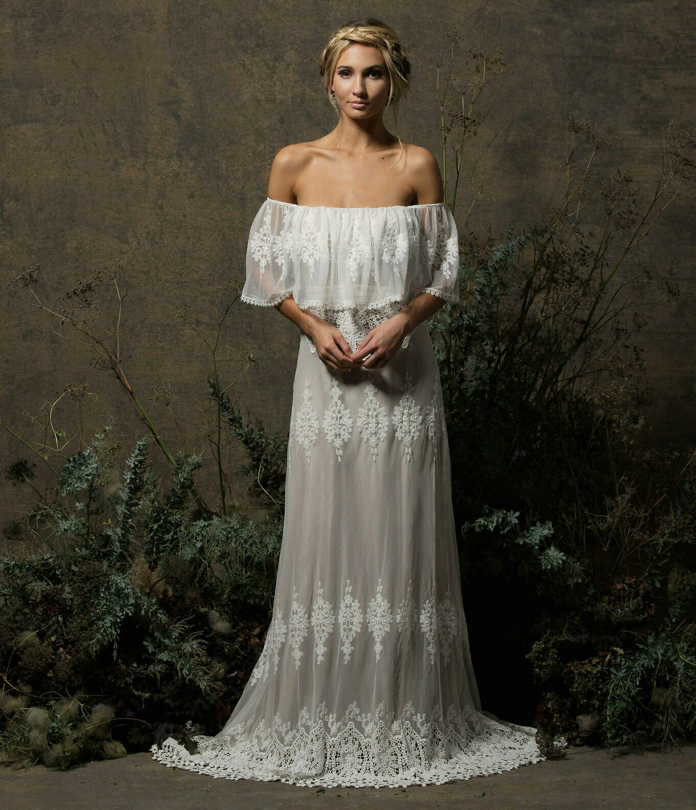 Non Traditional Wedding Dress Lace : Juniper bohemian lace wedding dress dreamers and lovers