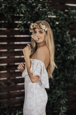 Lizzy-off-the-shoulder-stretch-lace-wedding-dress-off-white-inspo-for-boho-bride