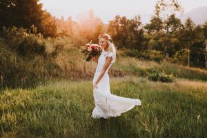 Amy-two-piece-lace-top-silk-skirt-bohemian-wedding-dress