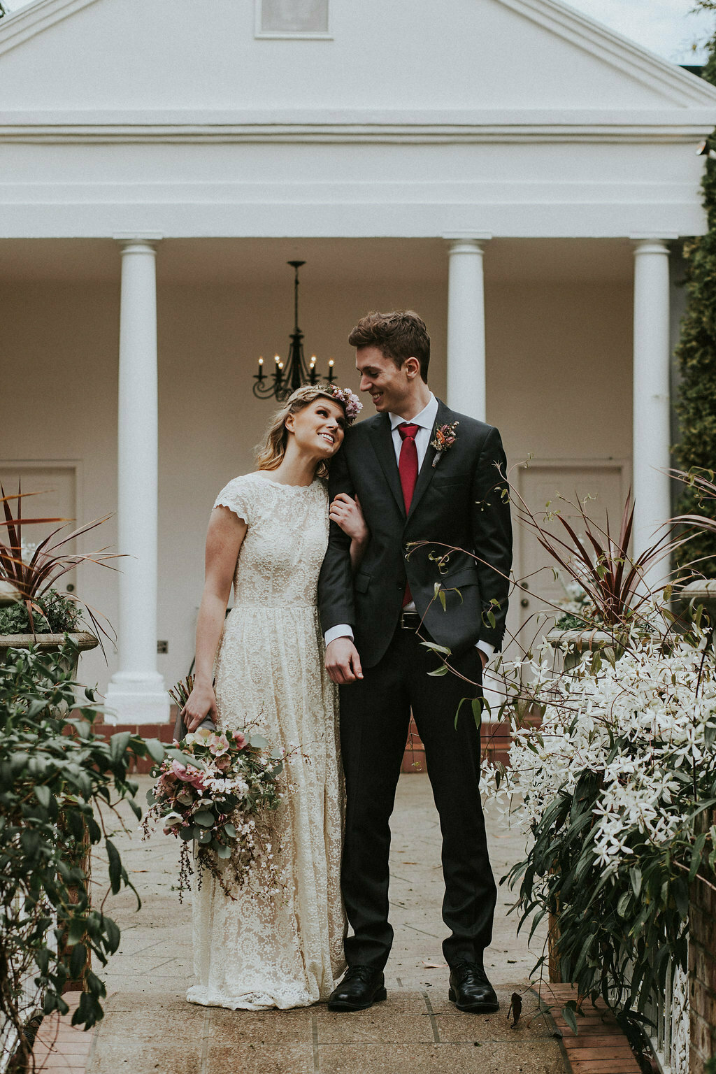 bohemian-lace-wedding-dress-with-pockets-and-open-back-without-train-for-a-more-casual-bride