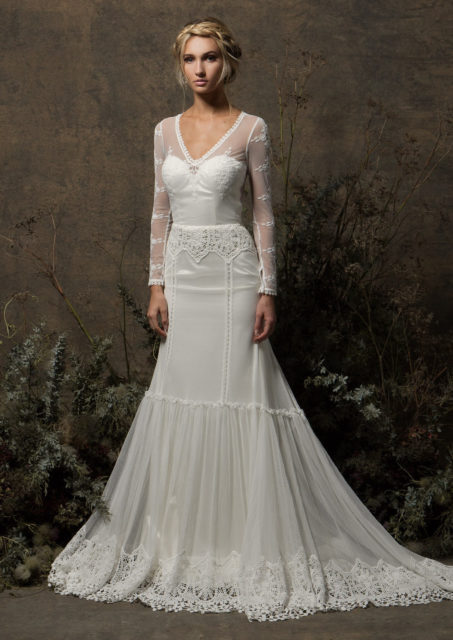 long-sleeve-lace-wedding-dress-with-applique-sleeved-long-train-in-must-see-bohemian-wedding-dresses