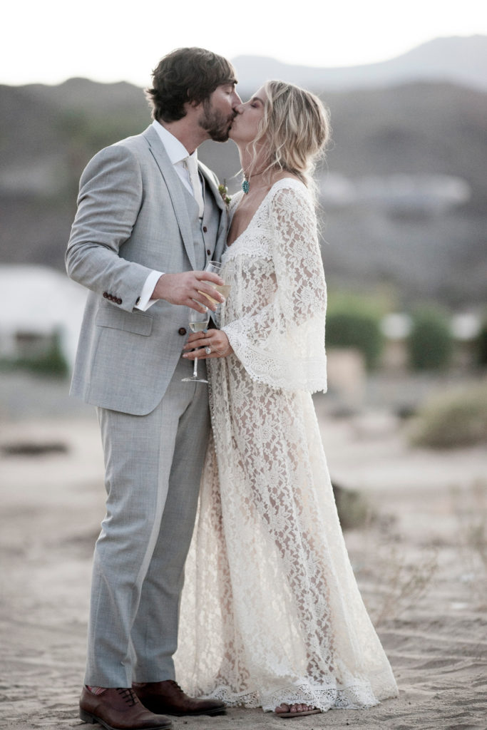 could-a-bride-and-grrom-be-any-cooler-than-this-one-and-her-in-this-ultra-bohemian-lace-caftan-dress