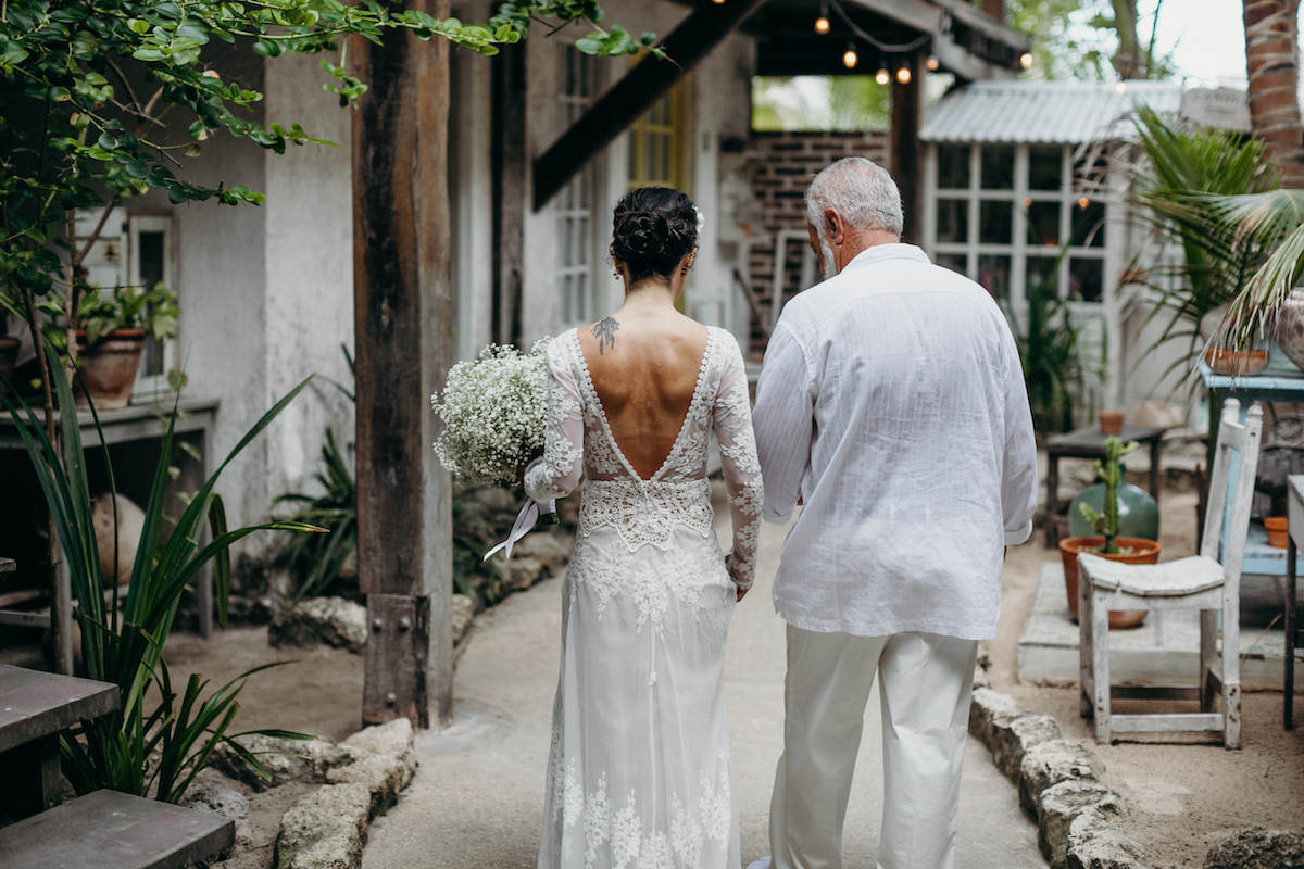 dreamers-and-lovers-lisa-lace-dress-worn-by-bride-Carolina-at-her-dream-destination-tulum-wedding