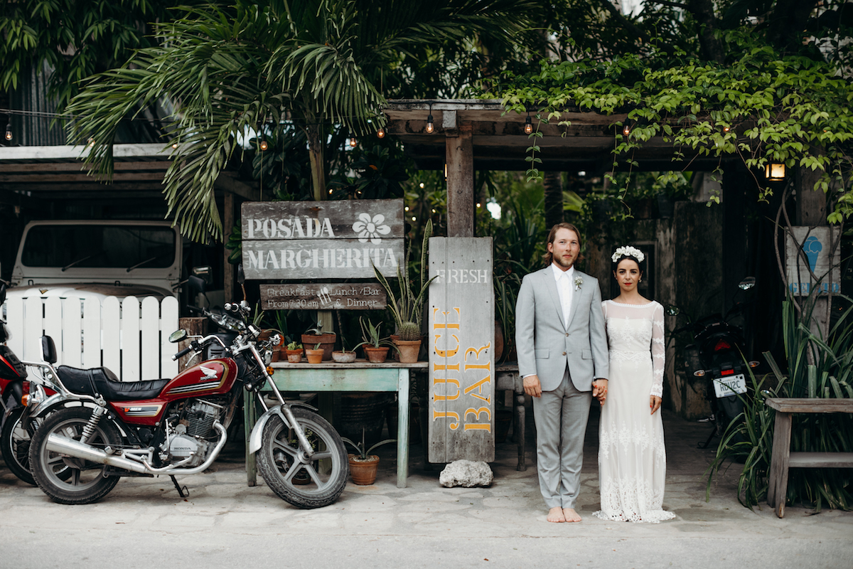 the-barefoot-couple-in-tulum-mexico-she-wears-a-romantic-long-sleeve-lace-dress