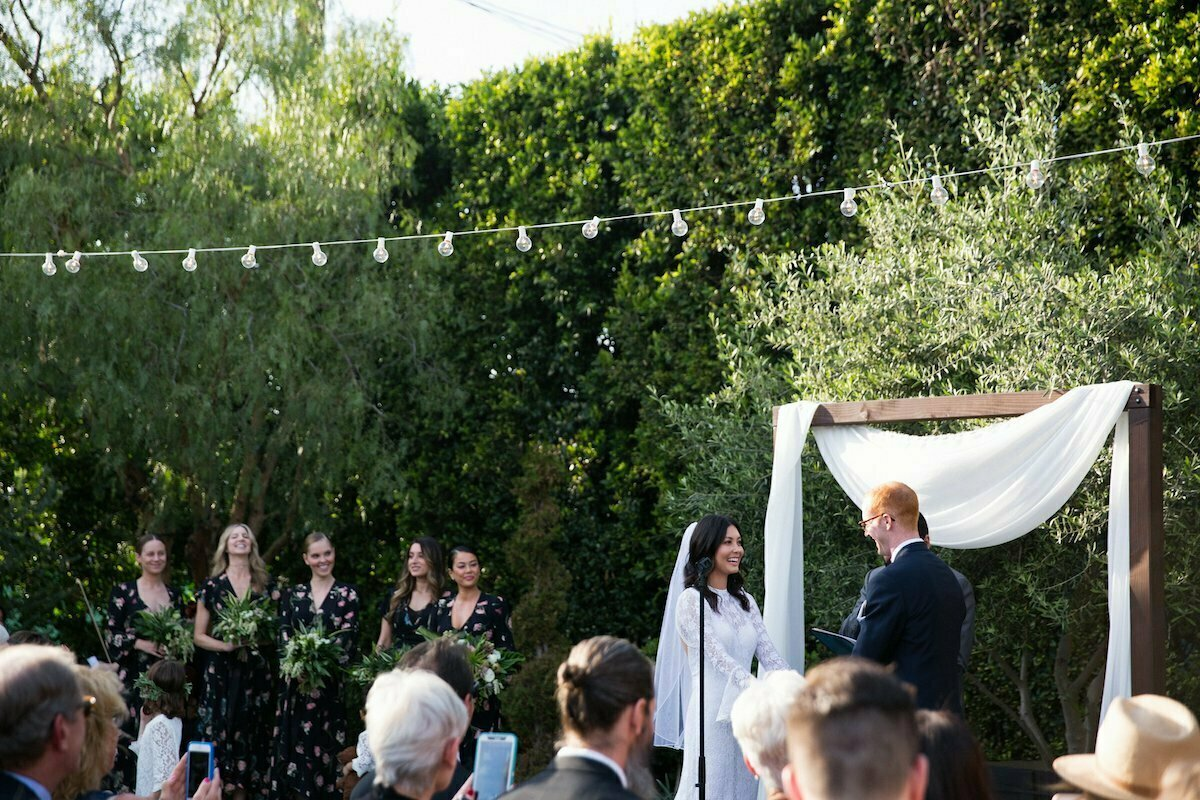 bohemian-chic-california-wedding-at-the-fig-house-in-los-angeles-here-the-couple-exchanges-their-vows