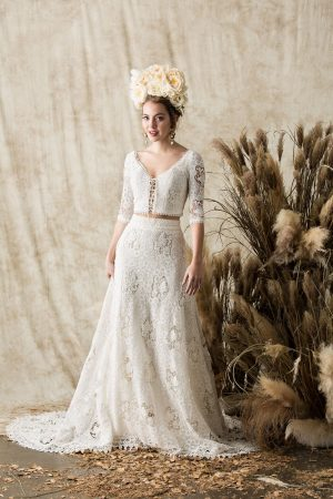 dreamers-and-lovers-cotton-crochet-lace-bohemain-long=sleeve-wedding-dress