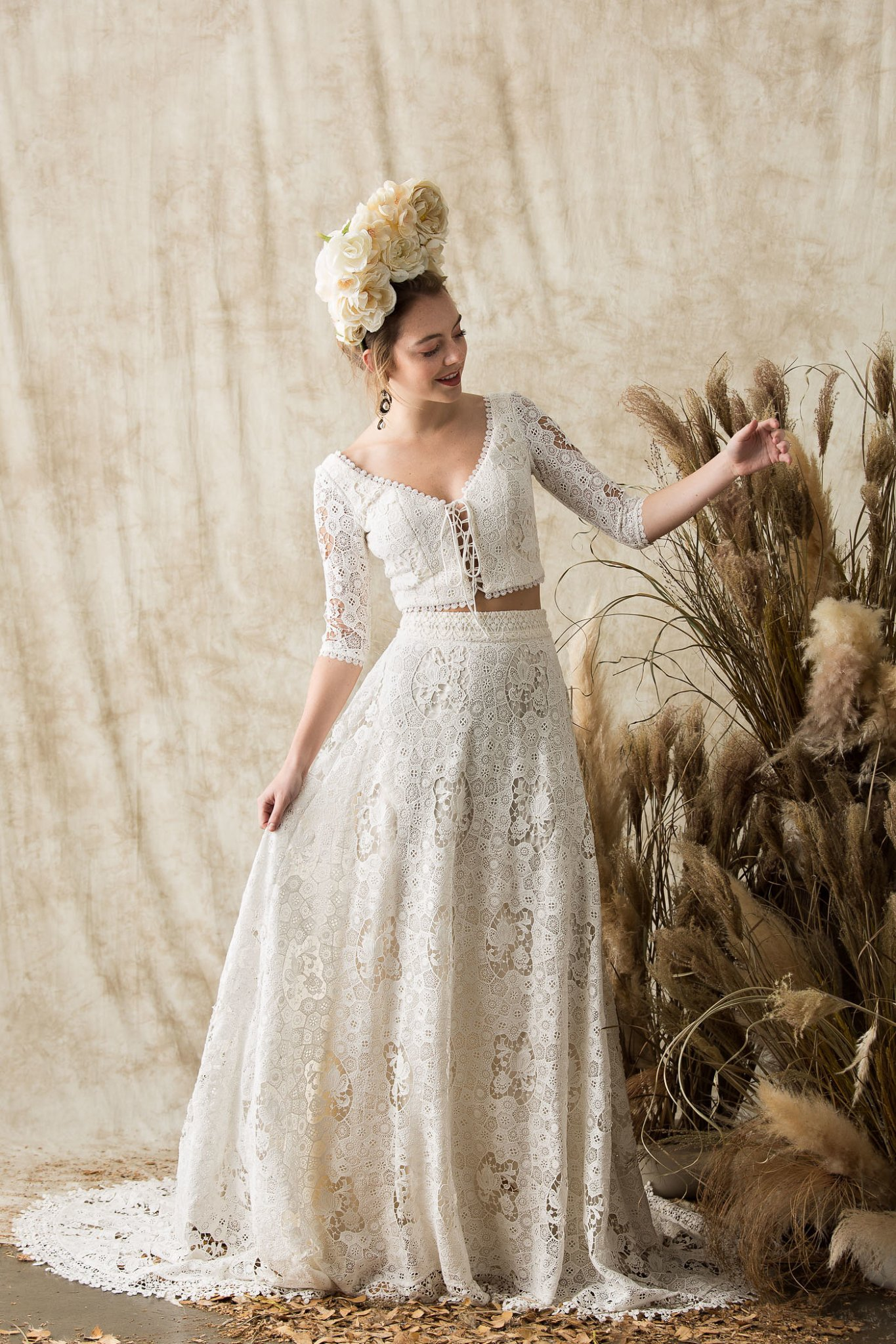 Bridal Separates Boho Crochet Dress Dreamers And Lovers