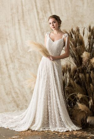 dreamers-and-lovers-evangeline-simple-delicate-lace-wedding-dress-with-shoulder-ties