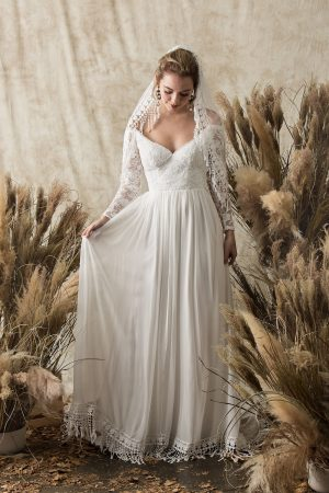 dreamers-lovers-gabrielle-long-sleeved-silk-lace-wedding-dress-bohemian-simple-design-open-front-and-back