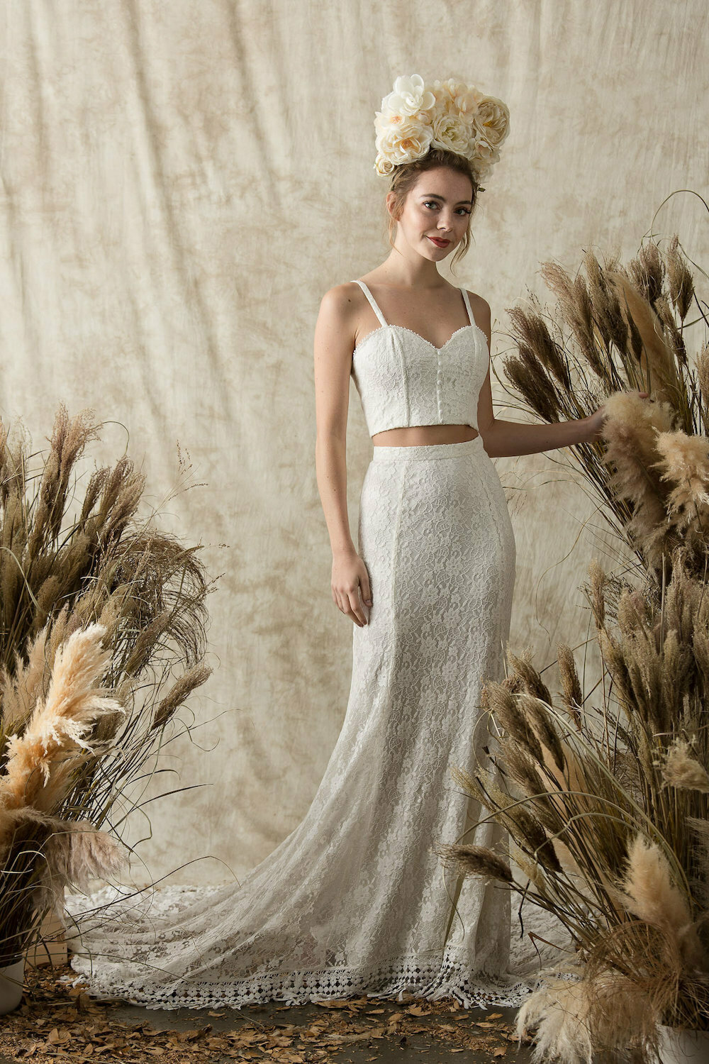 Dreamers And Two Piece Lace Wedding Dress