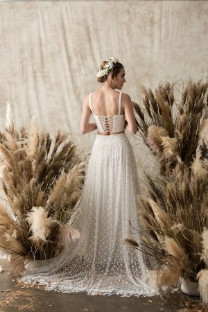 stella-bustier-top-shown-with-ophelia-dotted-lace-skirt-featuring-full-skirt-shop-all-our-custom-bridal-separates