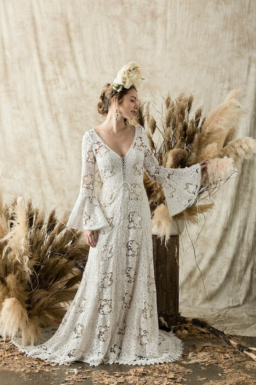 Juliet-cotton-lace-vintage-boho-style-wedding-dress
