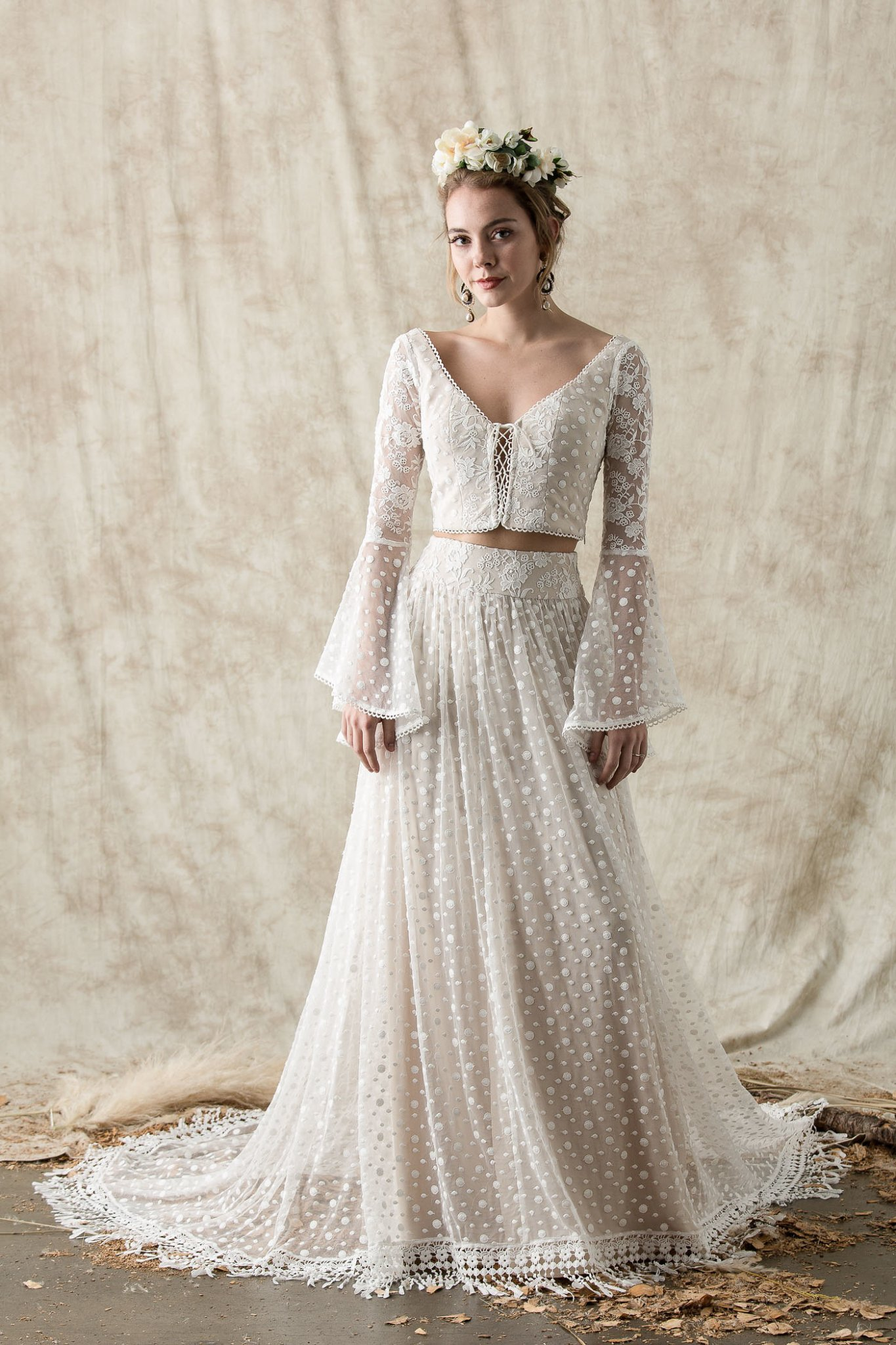 Ophelia Two Piece Wedding Dress | Dreamers and Lovers