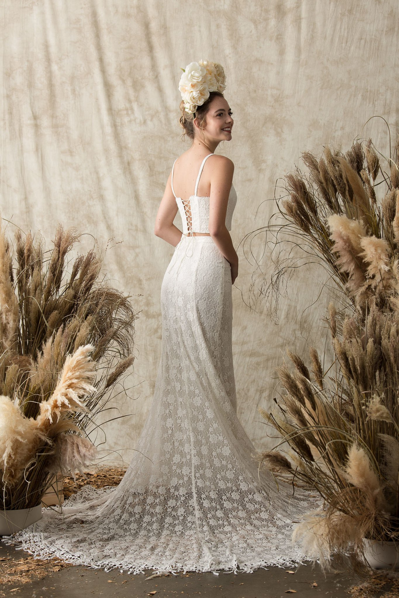Harper Two-Piece Lace Wedding Dress | Dreamers and Lovers