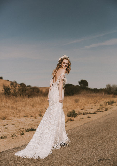 heather-off-shoulder-fringe-bohemian-wedding-dress-with-contrasting-laces-and-a-gorgeous-train