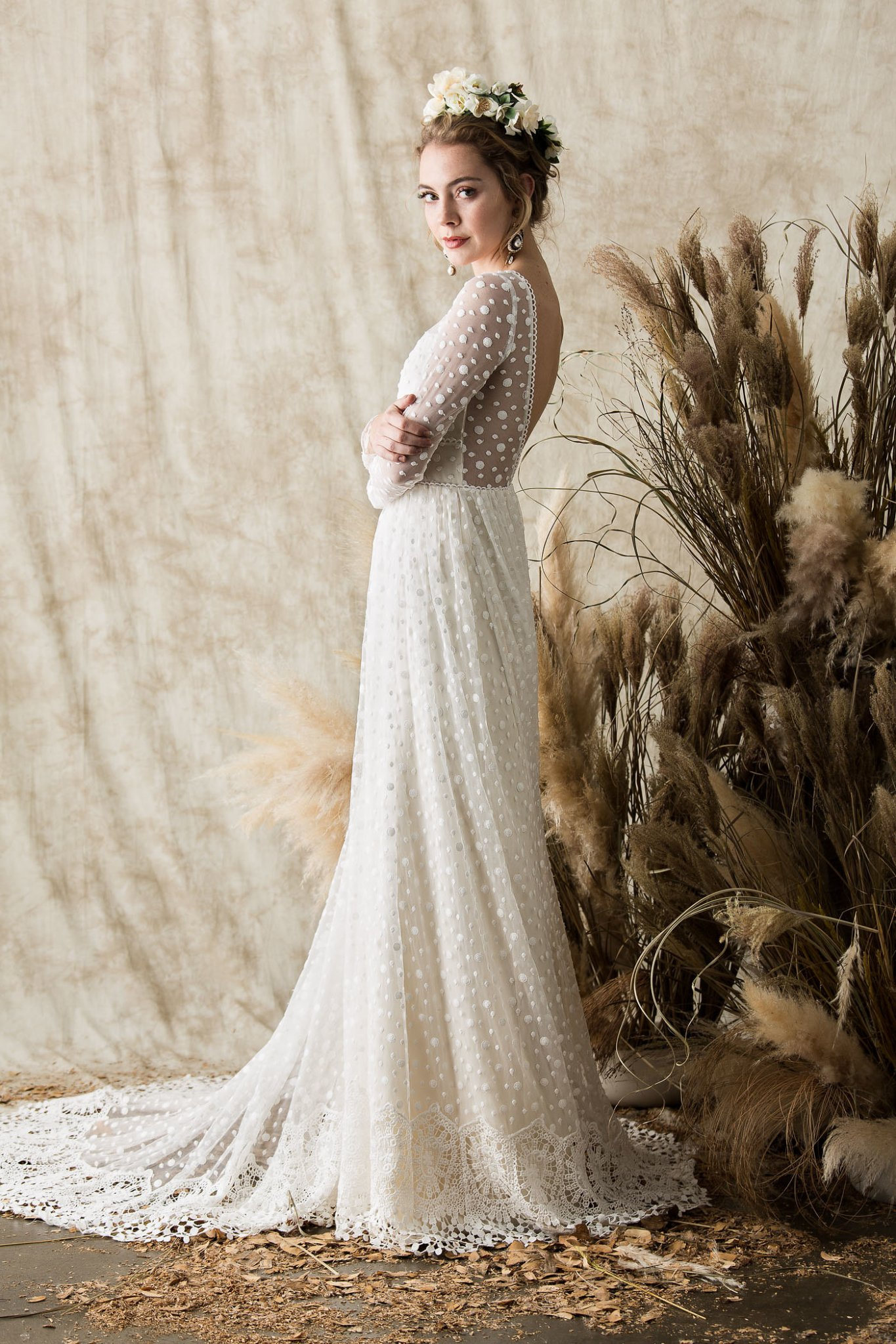 Long Sleeved Wedding Dresses.Miranda Long Sleeve Lace Wedding Dress