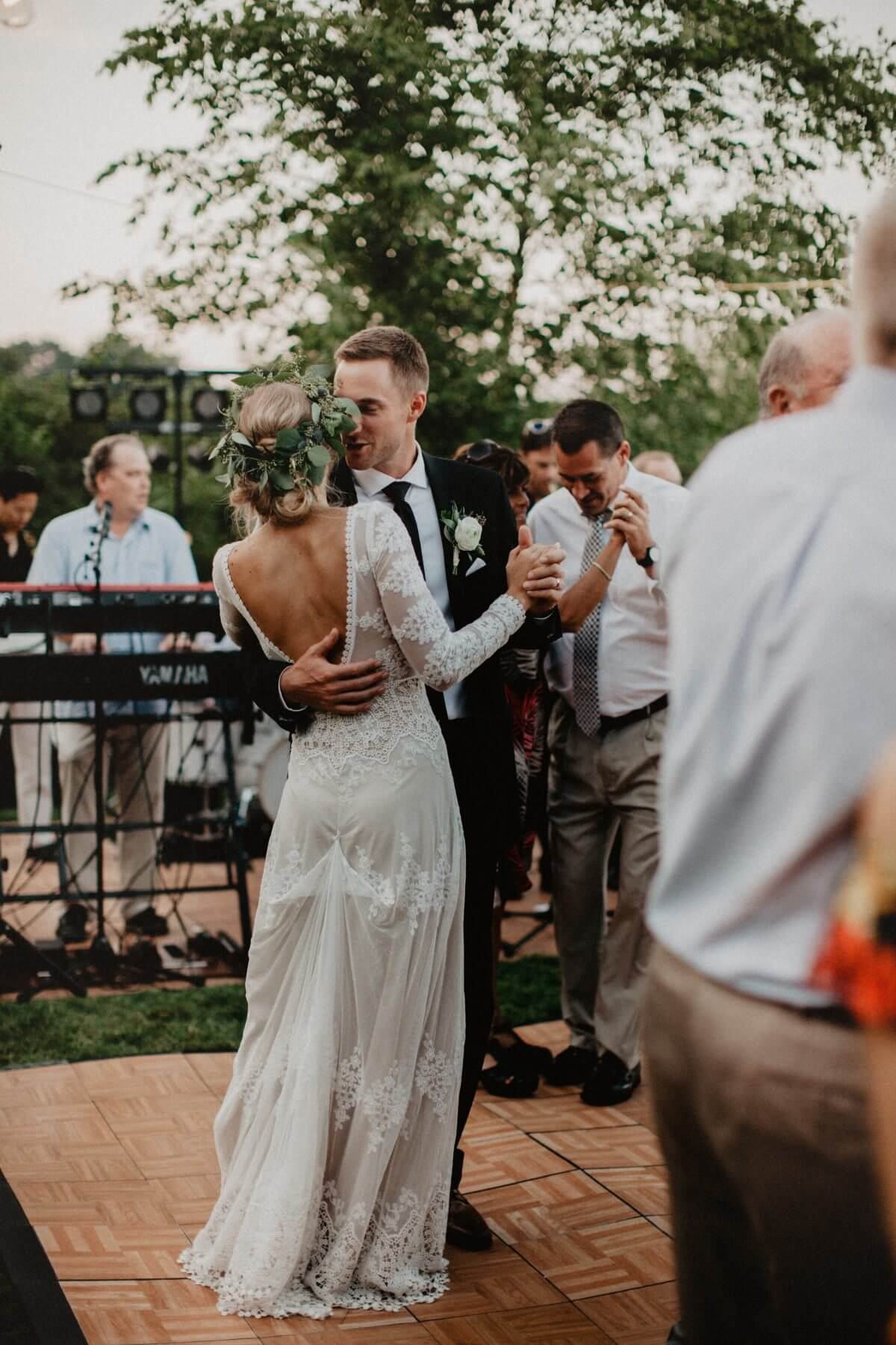 Crushing on this Boho Bride in her Flowy Wedding Dress