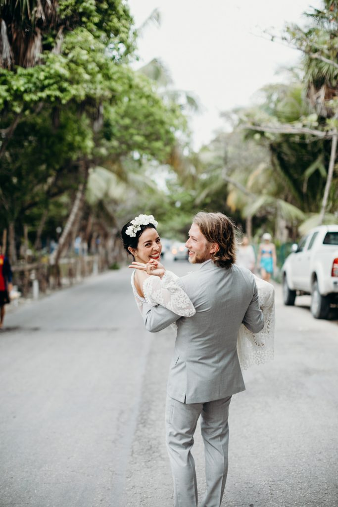 hippie-bride-and-grrom-dreamy-boho-wedding-dress-and-magical-tulum