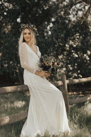 audrey-dotted-long-sleeves-lace-wedding-dress-simple-and-romantic