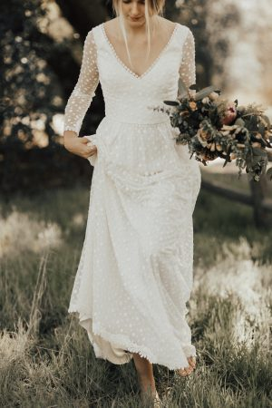dreamers-and-lovers-romantic-audrey-dotted-lace-wedding-dress-is-effortless-chic-for-the-playful-bohemian-bride