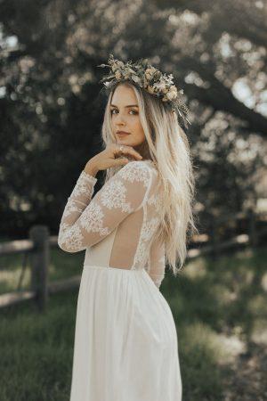 close-up-of-chloe-long-sleeved-lace-silk-boho-simple-wedding-dress