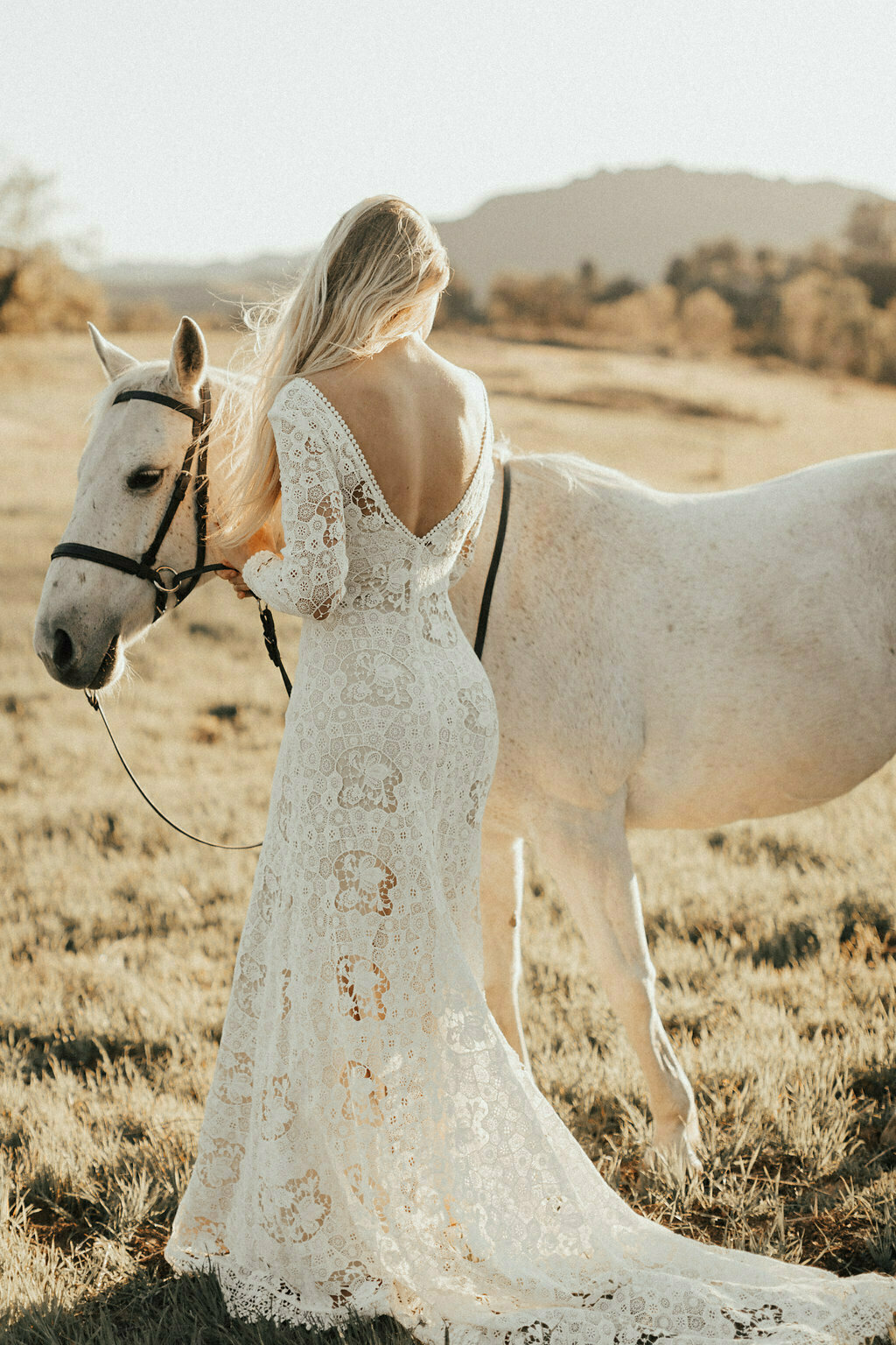 Claire Long Sleeve Lace Wedding Dress Dreamers And Lovers