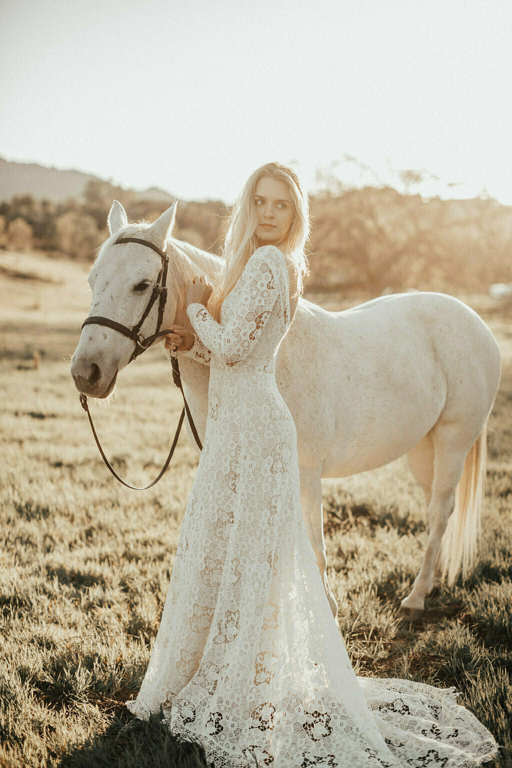 Claire Long Sleeve Lace Wedding Dress | Dreamers and Lovers