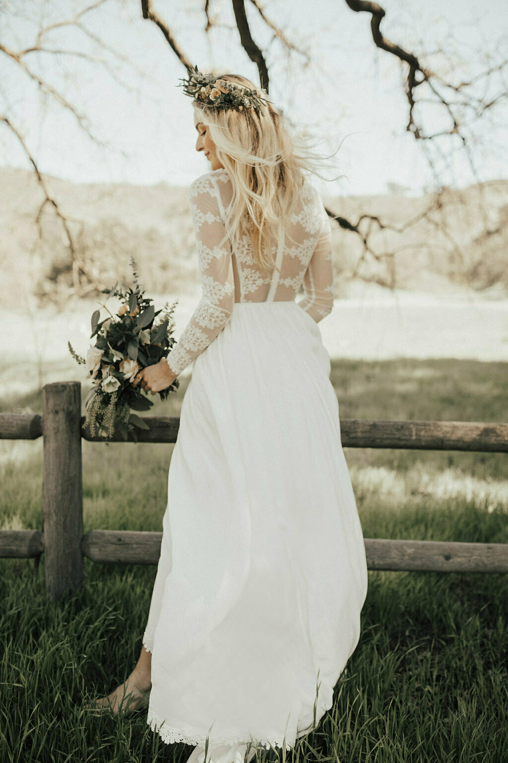 simple-wedding-dresses-for-the-boho-bride-our-chloe-long-sleeves-lace-and-silk-gown